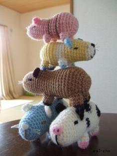 Knitting Pattern With Animals Motifs On : Animal Safari Crochet Afghan Blanket - Monkey, Elephant, Lion Motifs PDF Patt...