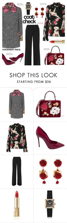 """""""Go Bold: Statement Coats"""" by the-geek-goddess ❤ liked on Polyvore featuring Dolce&Gabbana and statementcoats"""