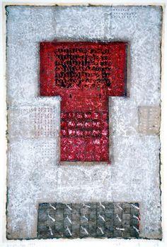 D-20.Feb.1997 43.6x29.5cm mixed media painting  林孝彦 HAYASHI Takahiko