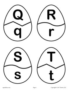 Letters Q, R, S and T
