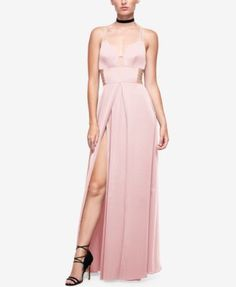 Fame and Partners Georgette High-Slit Maxi Dress | macys.com