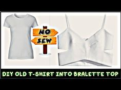 We all have so many pair of and which goes out of style and we don't want to wear it anymore So how can we recycle or reuse our old boring t-shirt? There ar. Diy Old Tshirts, Old Shirts, Old T Shirt Diy, Diy Bralette, Bralette Tops, Diy Pantalones Cortos, Diy Clothes Design, T Shirt Hacks, Shirt Refashion