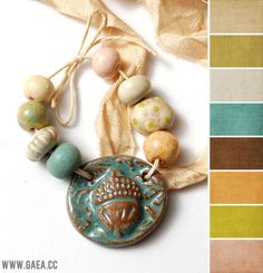 Art Bead Scene Blog: Art Bead Color Palette :: Gaea Ceramic Beads