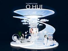O'Hui Exhibition on Behance Tv Set Design, Kiosk Design, Stage Design, Retail Design, Exhibition Booth Design, Exhibition Display, Exhibition Space, Exhibit Design, Exhibition Stands