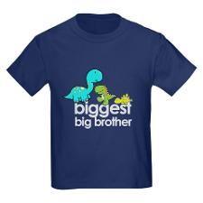 biggest big brother t-shirt dinosaur T