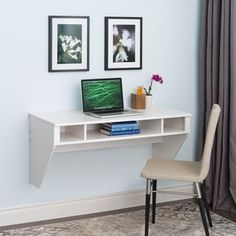 Prepac SOHO White Floating Desk - 14794492 - Overstock.com Shopping - Great Deals on Prepac Desks