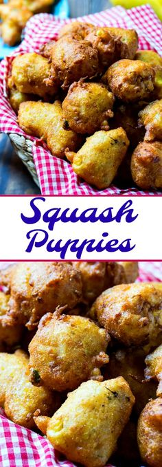 Squash Puppies- hush puppies made with yellow squash.