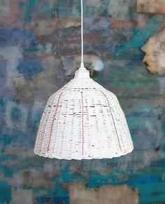 Lampa wisząca Łowicki Loft z wikliny papierowej | http://dekoeko.com/product/lampa-wiszaca-lowicki-loft/ | Kup na www.dekoeko.com
