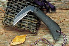 Sickle[和式ナイフ/切出・小刀]佐治武士作 山菜鎌(籠入)2寸・片刃