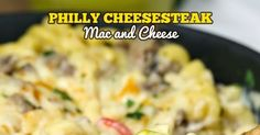 In just 25 minutes you can be devouring this incredible one pot recipe.  If you like Philly cheesesteaks you are going to go nuts over th...