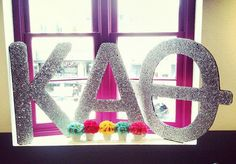 Made by one of my sisters for the Alpha Xi Spring Recruitment 2012.  Θ<3