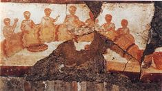 Multiplication of the Bread and Fish,   From Catacomb of St. Callixtus (Rome), 3rd c.