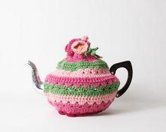 vintage teapots | VIntage Crochet Teapot Cosy by HelloDarlingVintage on Etsy