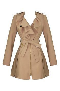 Beige Zippered Elizabeth Coat