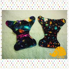 Space themed one size pocket diapers! Galaxy still available. $30 us shipping, includes an insert.