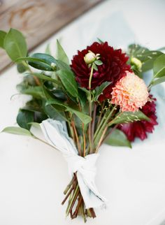 Natural DIY Bouquet | To see the wedding on #SMP, click here -  http://www.StyleMePretty.com/2014/01/03/mt-hood-national-forest-wedding/ Mi Amore Foto
