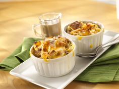 Make this vibrant and seasonal apple Cheddar bread pudding this fall and warm people's hearts and tummies. Once you've had a taste of this wonderful blend of sweet baked apples and melted Sargento® Chef Blends® Shredded 4 State Cheddar® Cheese accompanied by a crispy yet soft bread pudding, you'll want to make this recipe again and again.