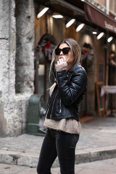 MarieandMood - Blog mode Lyon Paris: Denim Studio / tendance rock / Style rock / Perfecto noir / Streetstyle
