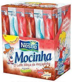 """É a sua Época? Quem se lembra ou já experimentou o """"Doce Mocinha da Nestlé"""" em meados anos 90? Tinha os sabores de Morango, Chocolate e T..."""