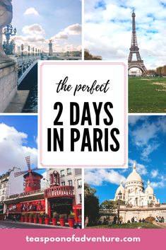 If your time in the City of Lights is limited, you can still make the most of it. Here's your perfect itinerary for 2 days in Paris! #paris #travel Paris 2 Day Itinerary, Top Europe Destinations, One Day In Paris, Paris Travel Guide, Travel Tips, France Eiffel Tower, Germany And Italy, Paris Restaurants, France Travel
