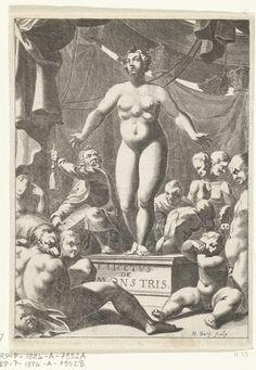 Naakte vrouw met vijf boezems, Hendrik Bary, 1665