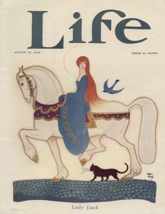 """LIFE Cover August 1924 by REA IRVIN  """"Lady Luck"""""""