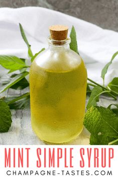 Simple Syrup This easy Mint Simple Syrup uses sugar and fresh mint and from the garden to create an herbal sweet syrup. It's perfect for sweetening tea, lemonade, and cocktails!In the Garden In the Garden may refer to: Mint Recipes, Herb Recipes, Canning Recipes, Recipes With Fresh Mint, Syrup Recipes, Vegan Recipes, Mojito, Triple Sec, Mint Syrup Recipe