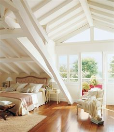 White room with a lovely balcony