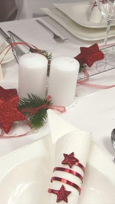 Kleiner Akazienstamm Tischdekoration Weihnachten Tischkarten