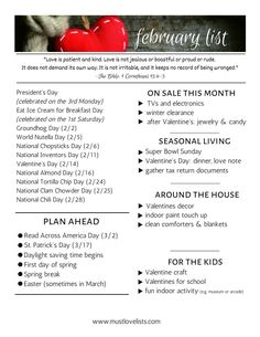Your February list of fun holidays, seasonal happenings, fun for kids, and a look ahead. Get organized with a monthly plan for February. Lunch Quotes, Nutella Sandwich, Make Your Own Banner, Ice Cream For Breakfast, Monthly Quotes, Cute Banners, Love List, Girl Thinking, Sandwiches For Lunch