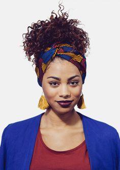 Bandeau prêt à enfiler en pagne africain. Hat Headband