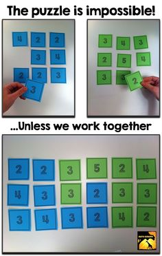 Math Team Building Puzzle for Middle School - FREE - Collaboration Problem Solving Communication Perseverence Thinking outside the box Strategizing Describing approach Fun Math, Math Games, Math Activities, Puzzle Games, Fun Games, Math Enrichment, Team Games, Physical Activities, Team Building Games