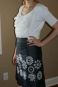 my version of the ruffle shirt, using this tutorial: http://tearosehome.blogspot.com/2010/01/tutorialruffle-shirt.html