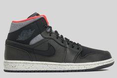 "Air Jordan 1 Mid ""Black, Grey & Infared 23"""