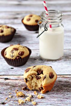 Chocolate Chip Muffins | My Baking Addiction. #muffin_pan