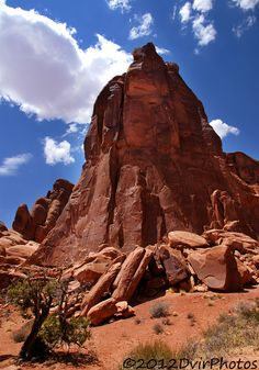 Pinnacle  of the Red Rock -  Arches National Park, Moab, Utah