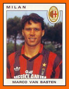 Marco van Basten with AC Milan, 1987.