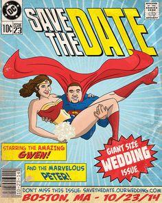 Custom Comic Book Save The Date / Wedding Invitation