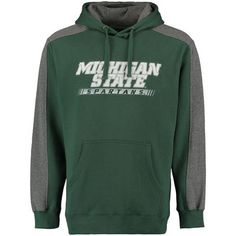 Men's Green/Gray Michigan State Spartans Westview Pullover Hoodie