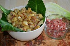 FINOCCHI SALTATI IN PADELLA CON SPECK Potato Salad, Potatoes, Ethnic Recipes, Food, Hobby, Contouring, Kitchens, Potato, Essen