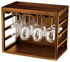 Shop Wine Enthusiast Cube Stack Wine Glass Rack Walnut at Best Buy. Find low everyday prices and buy online for delivery or in-store pick-up. Wine Rack Storage, Wine Rack Wall, Wine Glass Holder, Wine Bottle Holders, Wine Racks, Rack Design, Shelf Design, Wine Deals, Expensive Wine