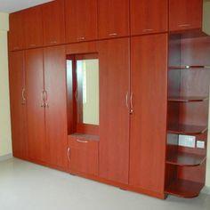 10 Modern Bedroom Wardrobe Design Ideas - Home decor Small Bedroom Wardrobe, Wooden Wardrobe, Built In Wardrobe, Almirah Designs For Bedroom, Small Bedroom Designs, Home Design, Design Ideas, Bed Design, Bedroom Wall Cabinets