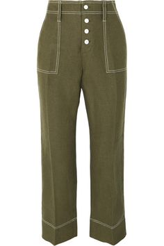 Multicolored cotton-blend Slips on cotton, polyester Machine wash Imported Linen Pants, Khaki Pants, Pink And White Stripes, Flare Pants, Army Green, Style Guides, J Crew, Denim Shorts, Trousers
