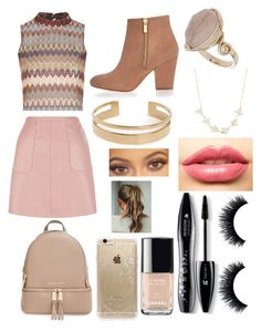 """""""Untitled #33"""" by mgrove1121 on Polyvore featuring beauty, Glamorous, MICHAEL Michael Kors, River Island, Topshop, Amorium, LASplash, Rifle Paper Co, Chanel and Lancôme"""