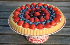 Very easy dutch fruit pie Strawberry Pie, Raspberry, Fruit Pie, Pie Cake, Cake Recipes, Nom Nom, Biscuits, Cupcakes, Easy