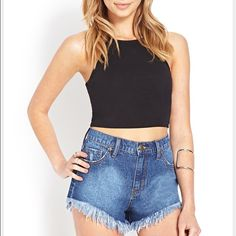 Forever 21 Denim Shirts  Perfect condition denim shorts. A classic summer staple in everyone's closet! Forever 21 Shorts Jean Shorts