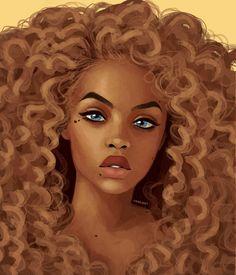 dime by cinnamart on DeviantArt Black Love Art, Black Girl Art, Art Girl, African American Art, African Art, Drawings Of Black Girls, Arte Black, Natural Hair Art, Black Girl Cartoon