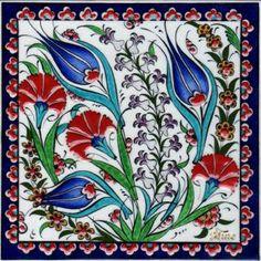 Turkish Tiles, Turkish Art, Pakistan Art, Ceramic Tile Art, Hexagon Patchwork, Turkish Pattern, Ceramic Figures, Handmade Tiles, Mosaic Patterns