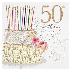 Buy Portfolio Cake 50th Birthday Card Online At Johnlewis Happy Wishes