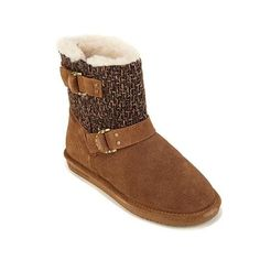 BEARPAW® Nova Suede and Ice Wool D-Ring Bootie